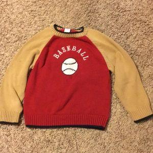 Warm baseball sweater